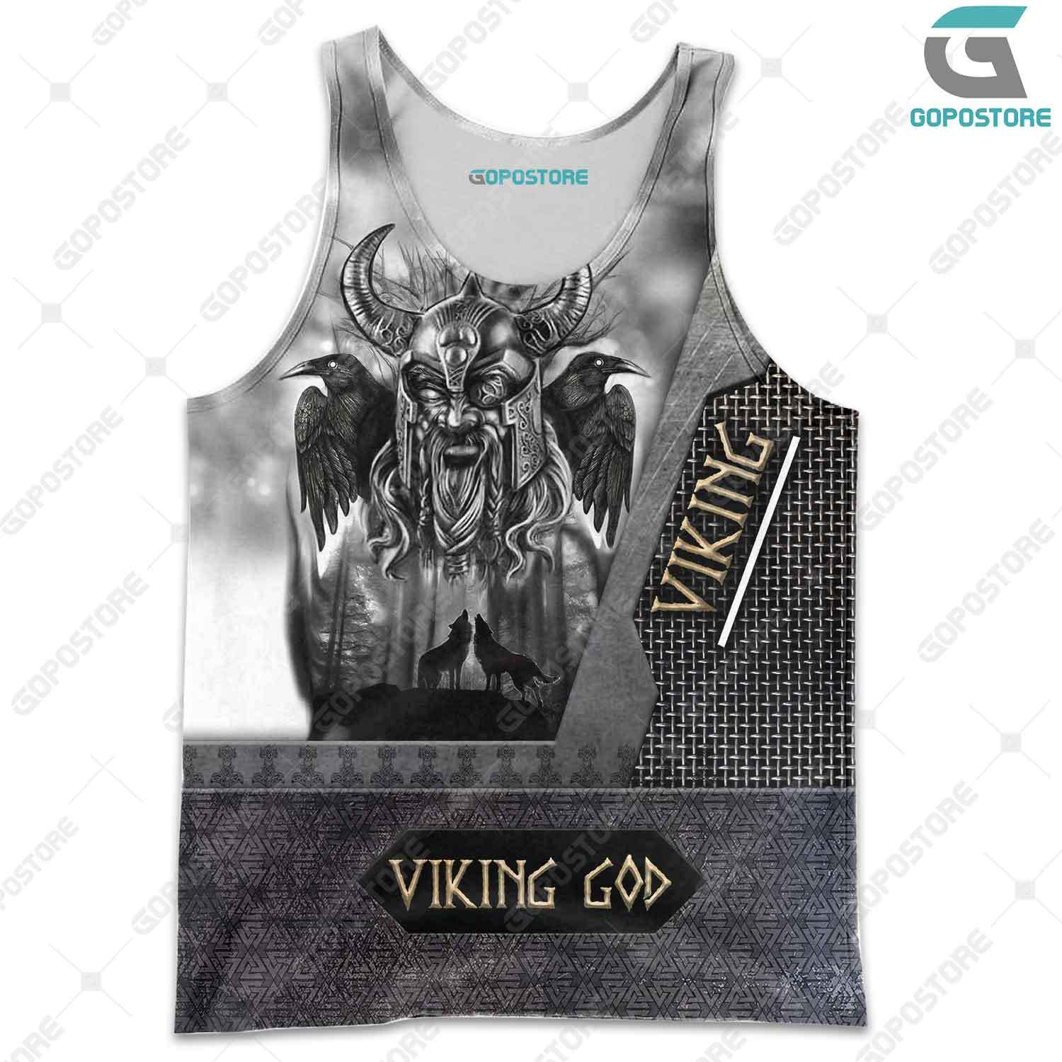 Viking god odin the all father full printing tank top