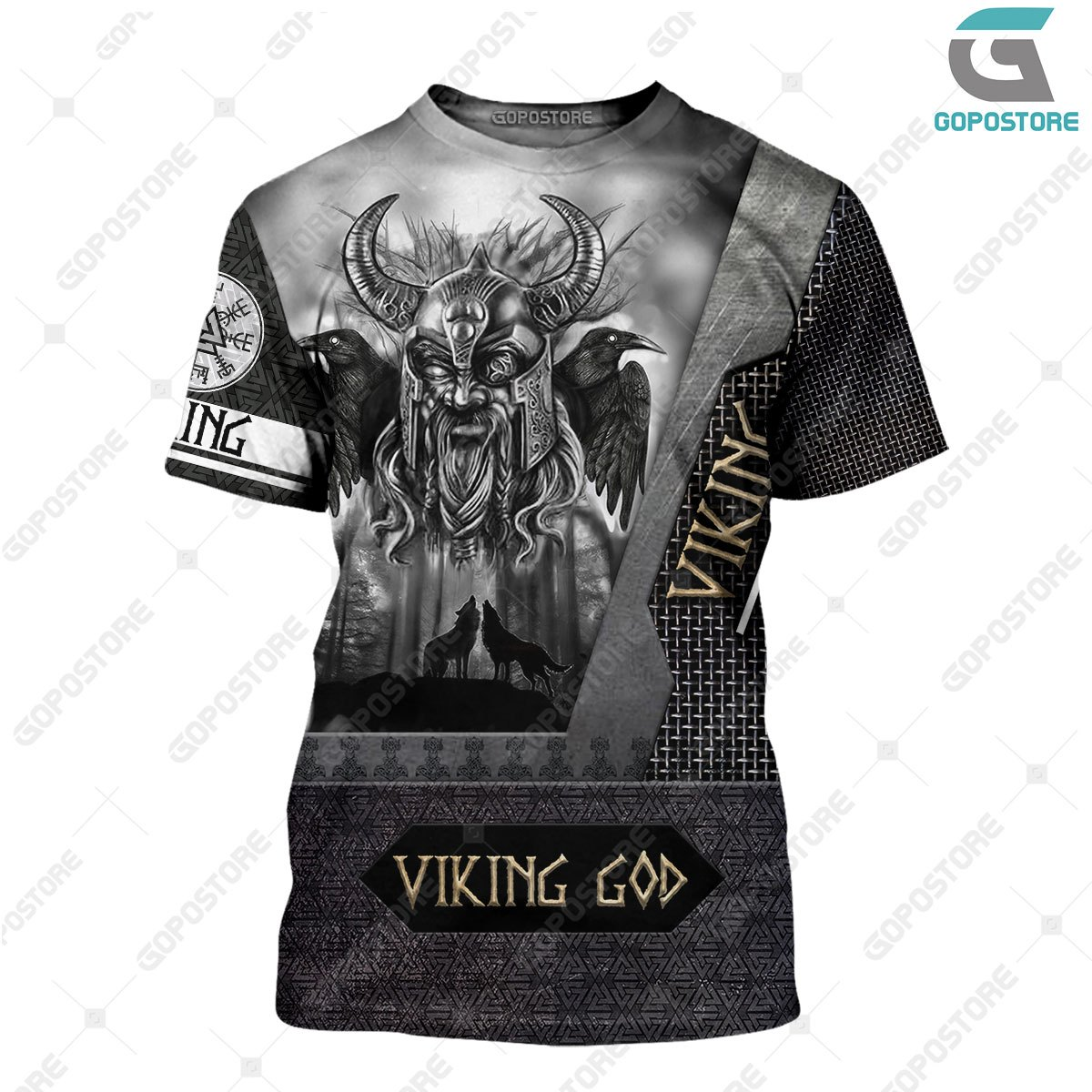 Viking god odin the all father full printing tshirt