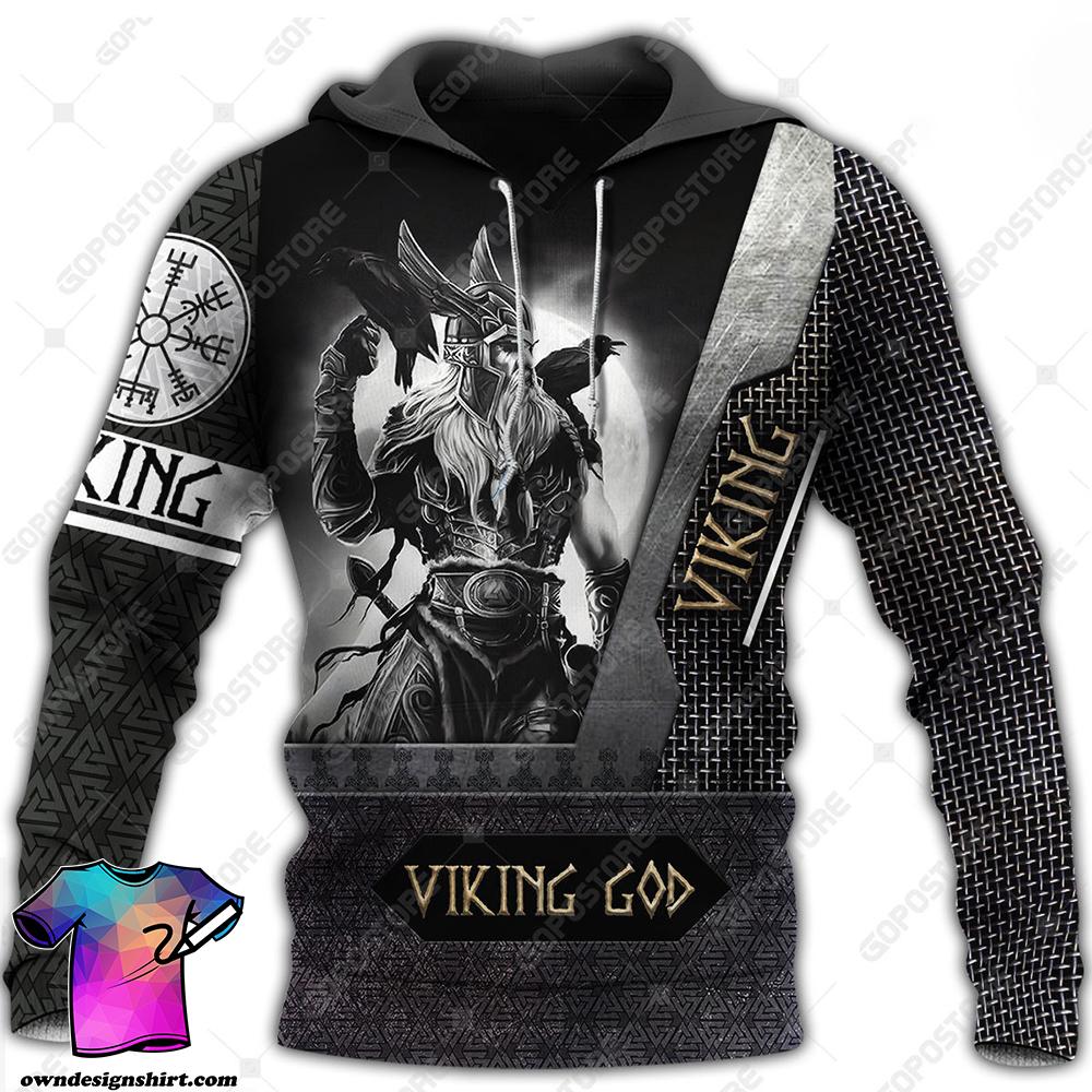 Viking god viking warrior full printing shirt