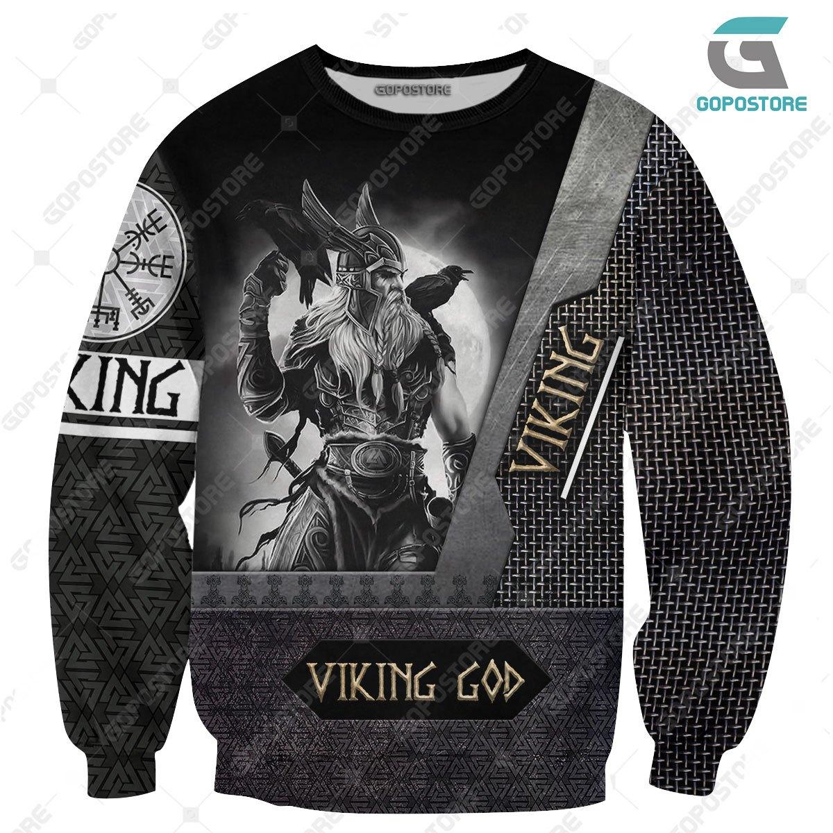 Viking god viking warrior full printing sweatshirt