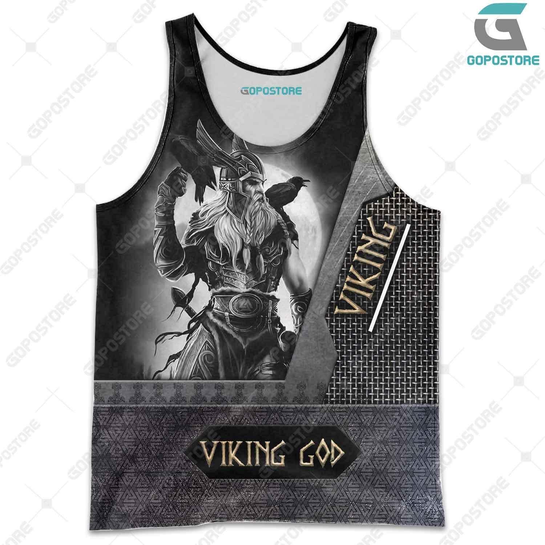 Viking god viking warrior full printing tank top