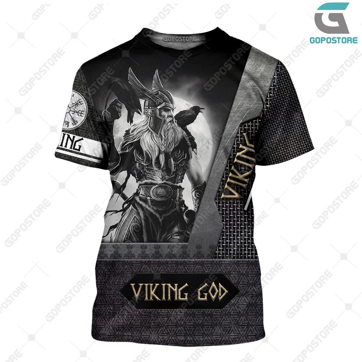 Viking god viking warrior full printing tshirt