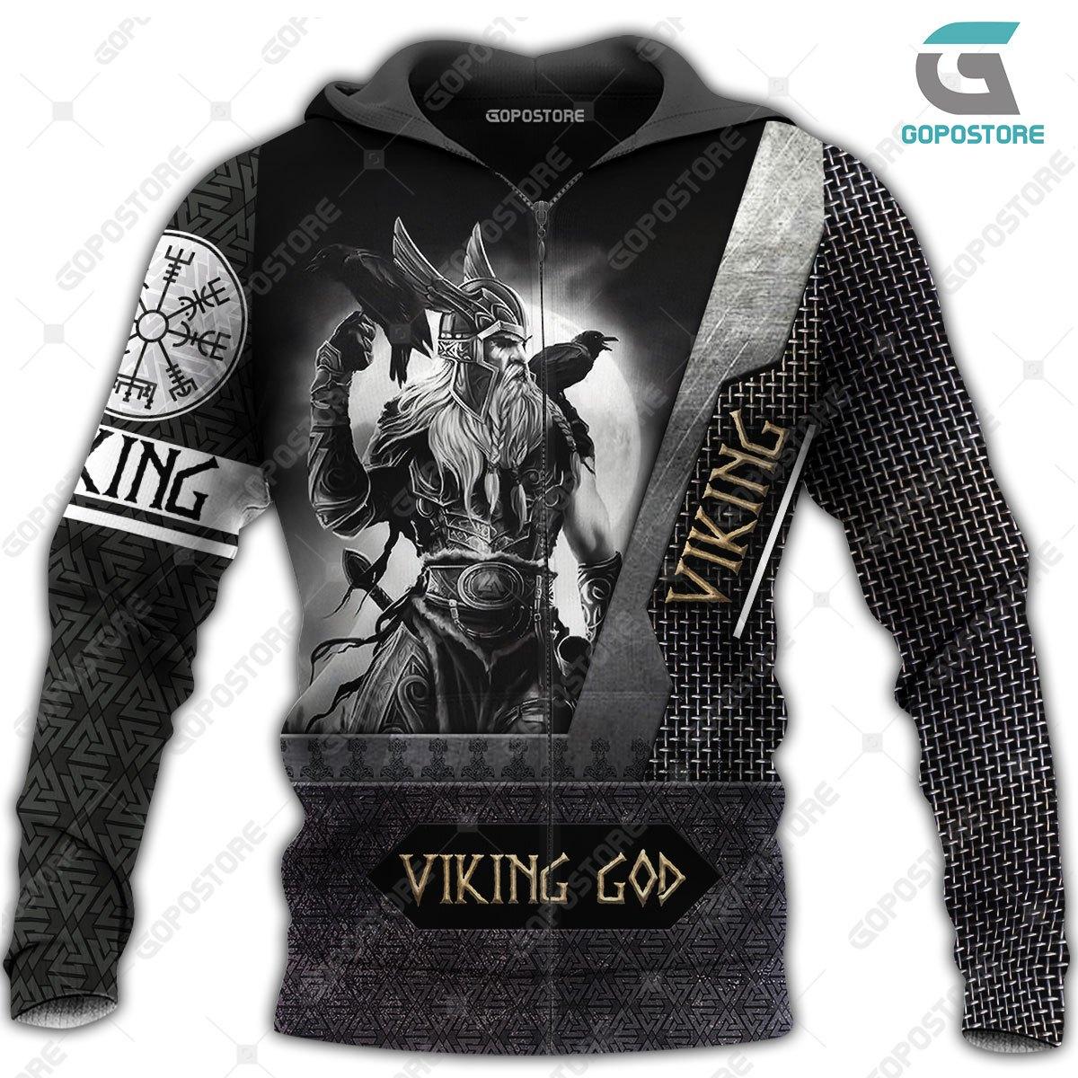 Viking god viking warrior full printing zip hoodie