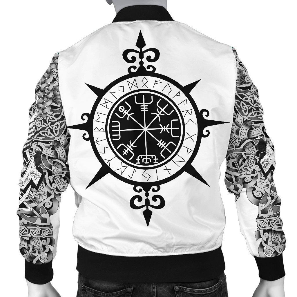 Viking warrior tattoo full printing bomber - back
