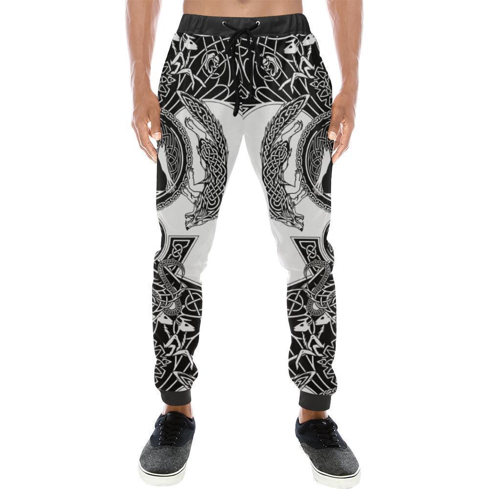 Viking warrior tattoo full printing long pants