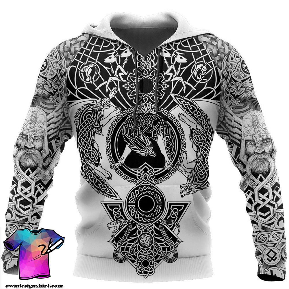 Viking warrior tattoo full printing shirt