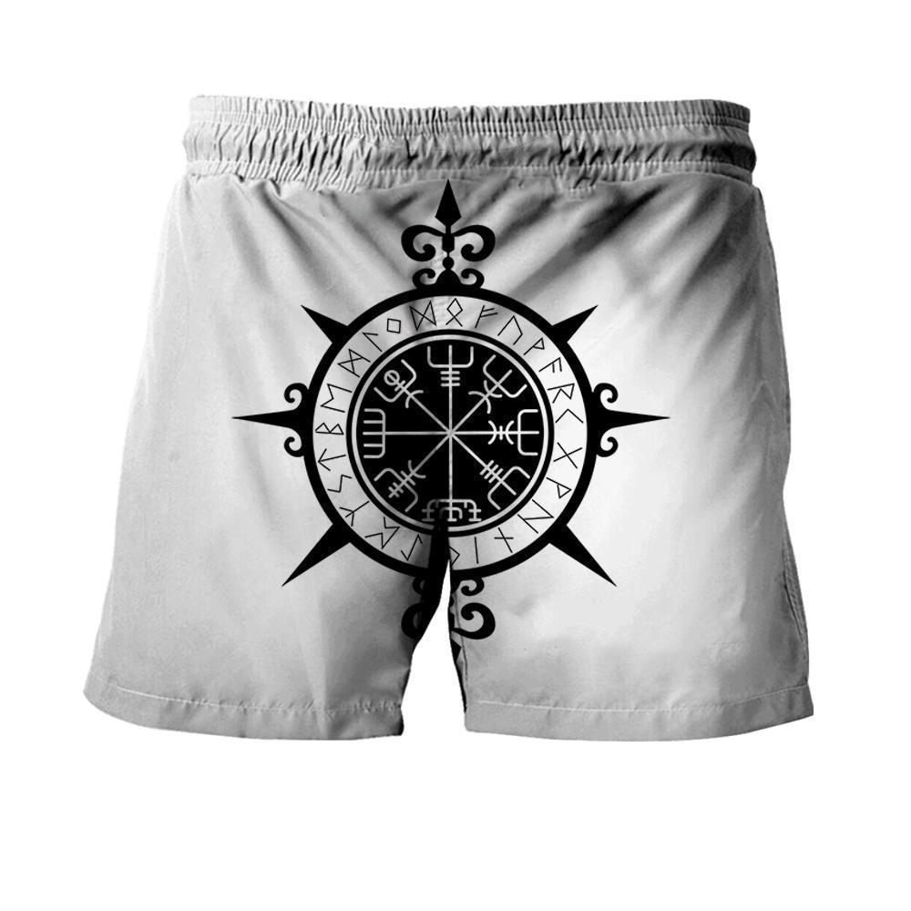 Viking warrior tattoo full printing shorts - back