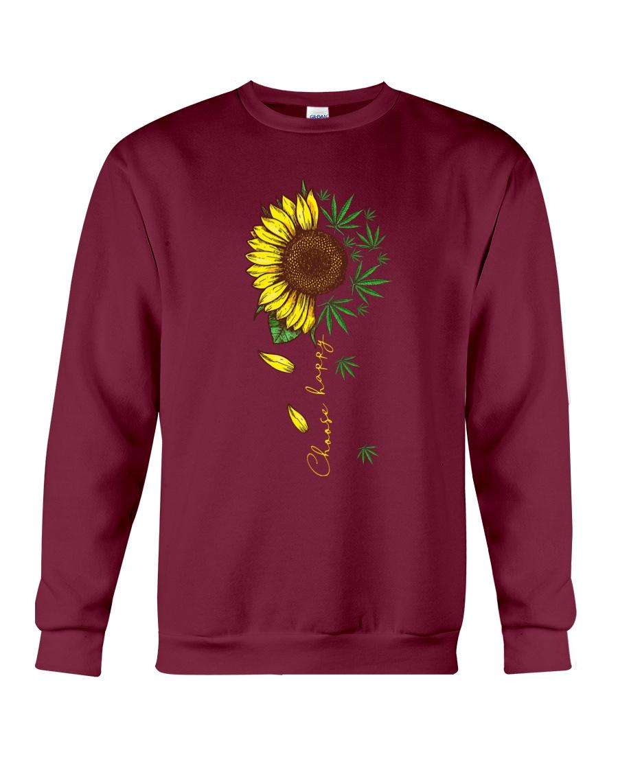 Choose happy sunflower and weed sweatshirt