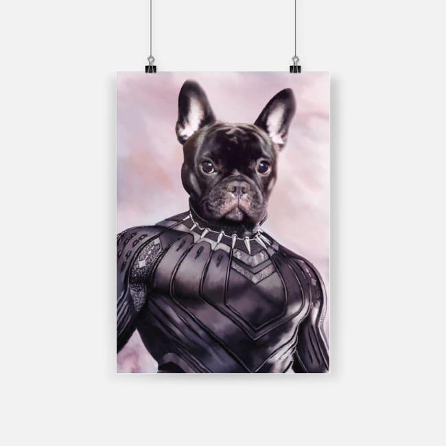 Dog black panther poster 2