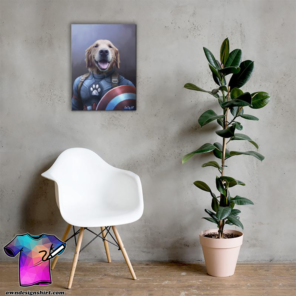 Dog captain america poster