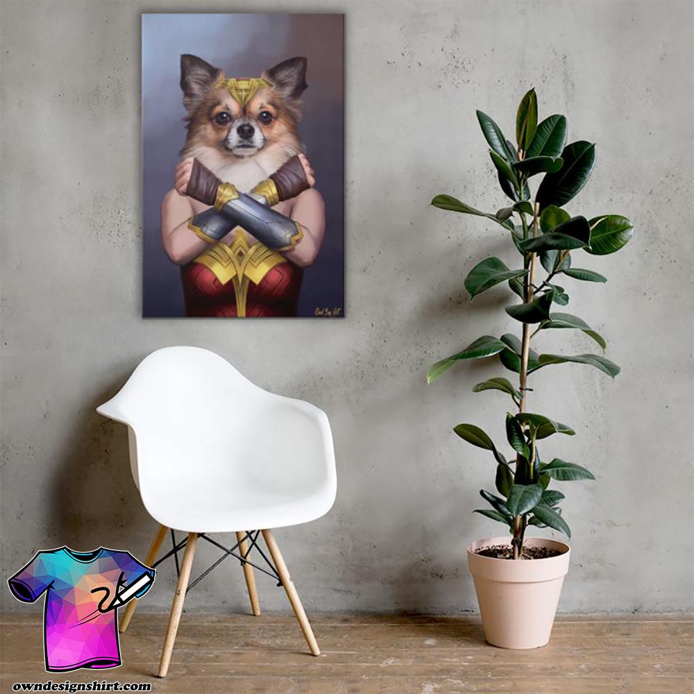 Dog wonder woman poster