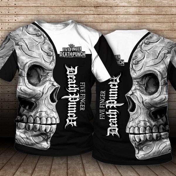 Five finger death punch sugar skull full printing tshirt