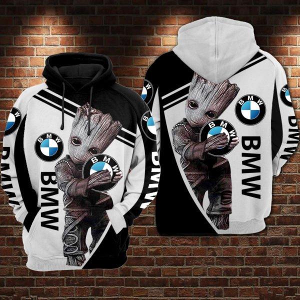 Groot hold bmw logo full printing hoodie