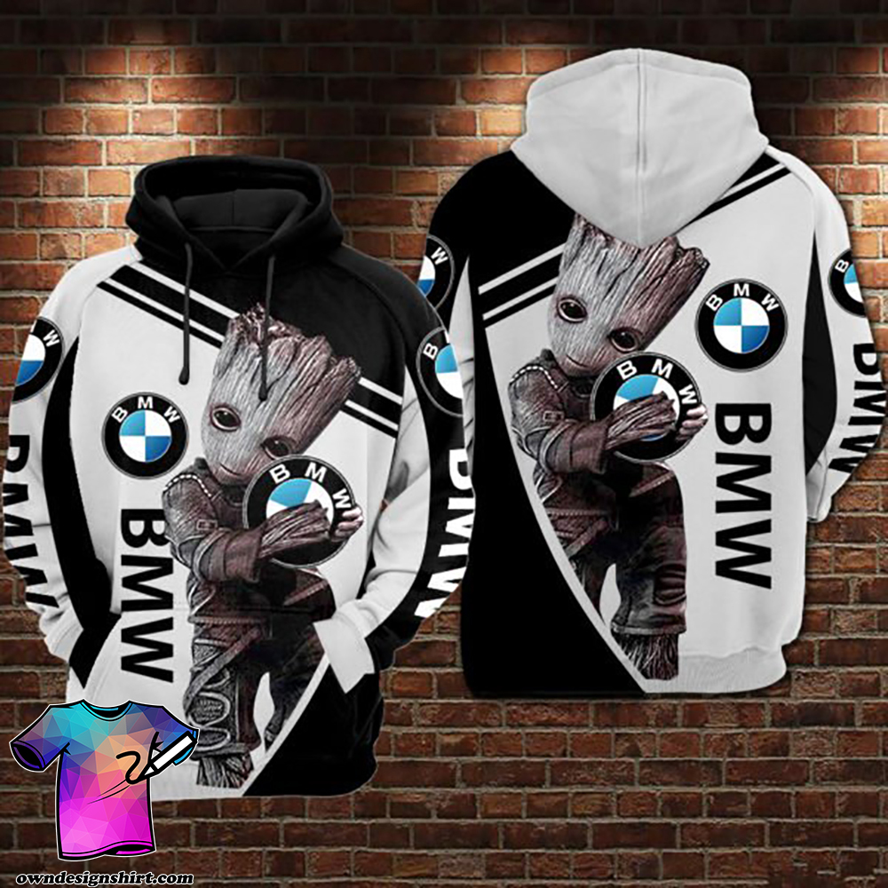 Groot hold bmw logo full printing shirt