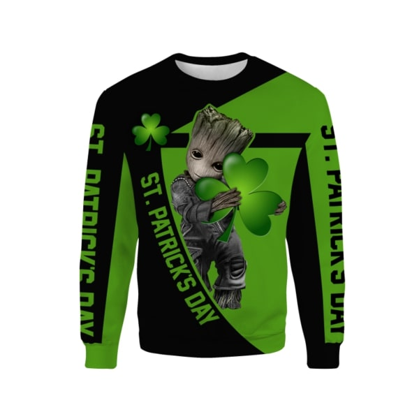 Groot hold clover saint patricks day all over print sweatshirt