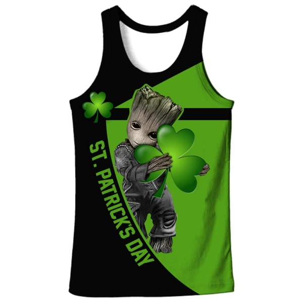 Groot hold clover saint patricks day all over print tank top