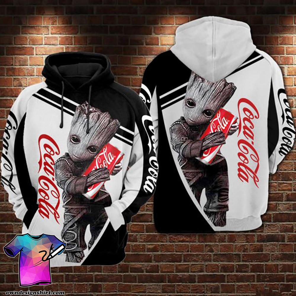 Groot hug coca cola full printing shirt