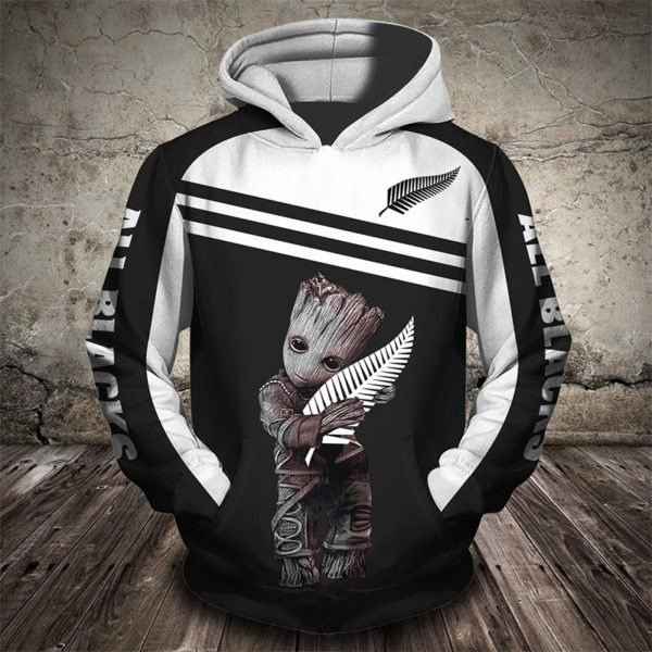 Groot new zealand national rugby union team full printing hoodie 2