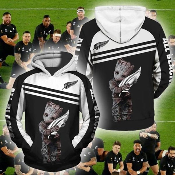 Groot new zealand national rugby union team full printing hoodie