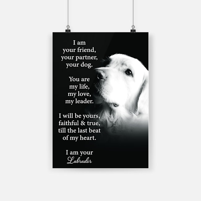 I am your friend your partner dog labrador poster 2