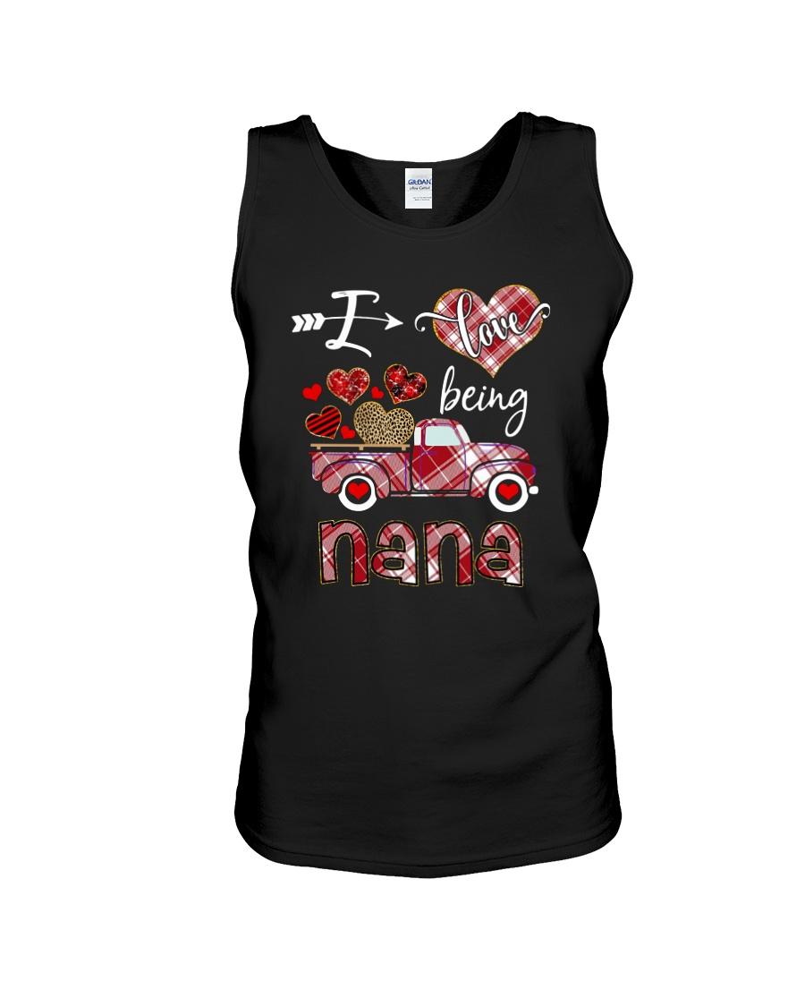 I love being a nana truck valentine tank top