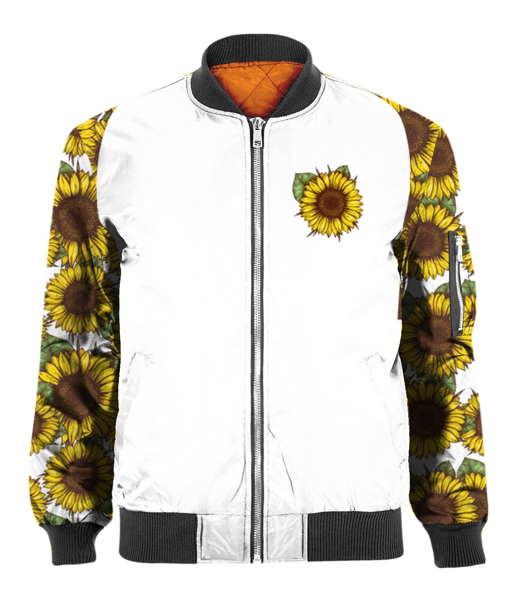 I'm blunt because god rolled me that way sunflower all over print bomber