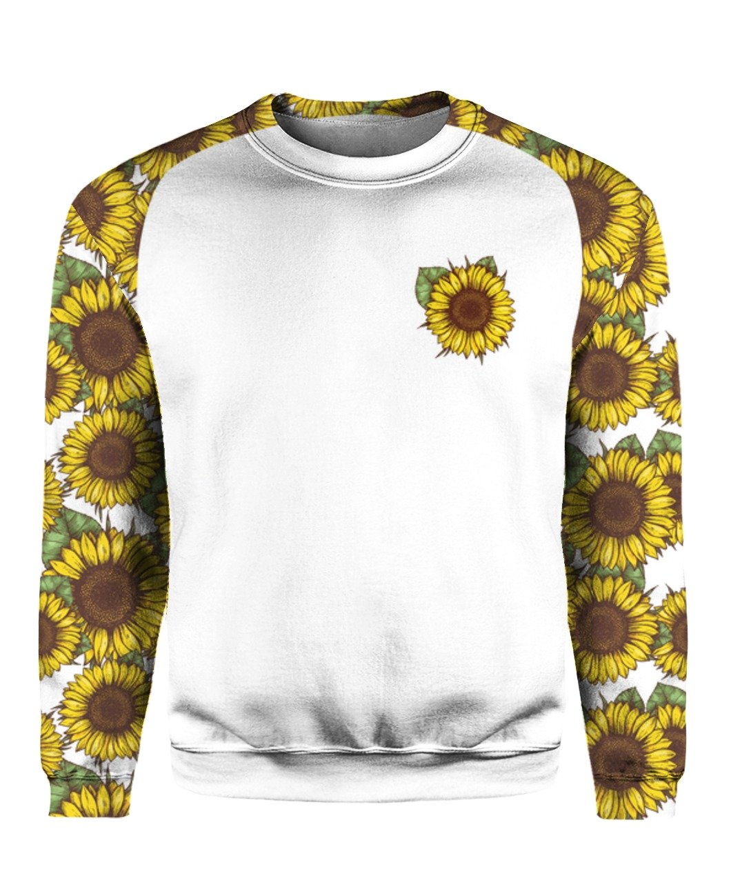 I'm blunt because god rolled me that way sunflower all over print sweatshirt