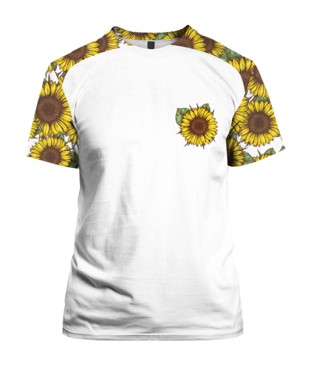 I'm blunt because god rolled me that way sunflower all over print tshirt