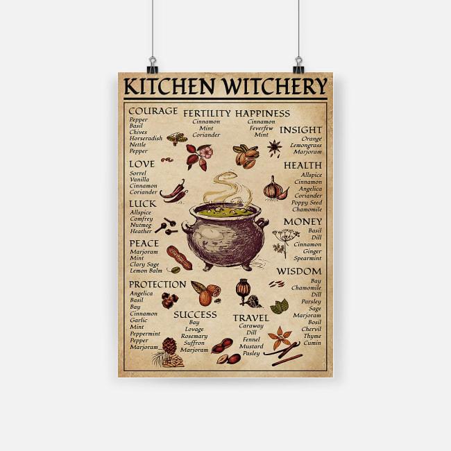 Kitchen witchery witchcraft knowledge poster 1