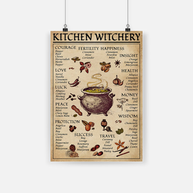 Kitchen witchery witchcraft knowledge poster 3