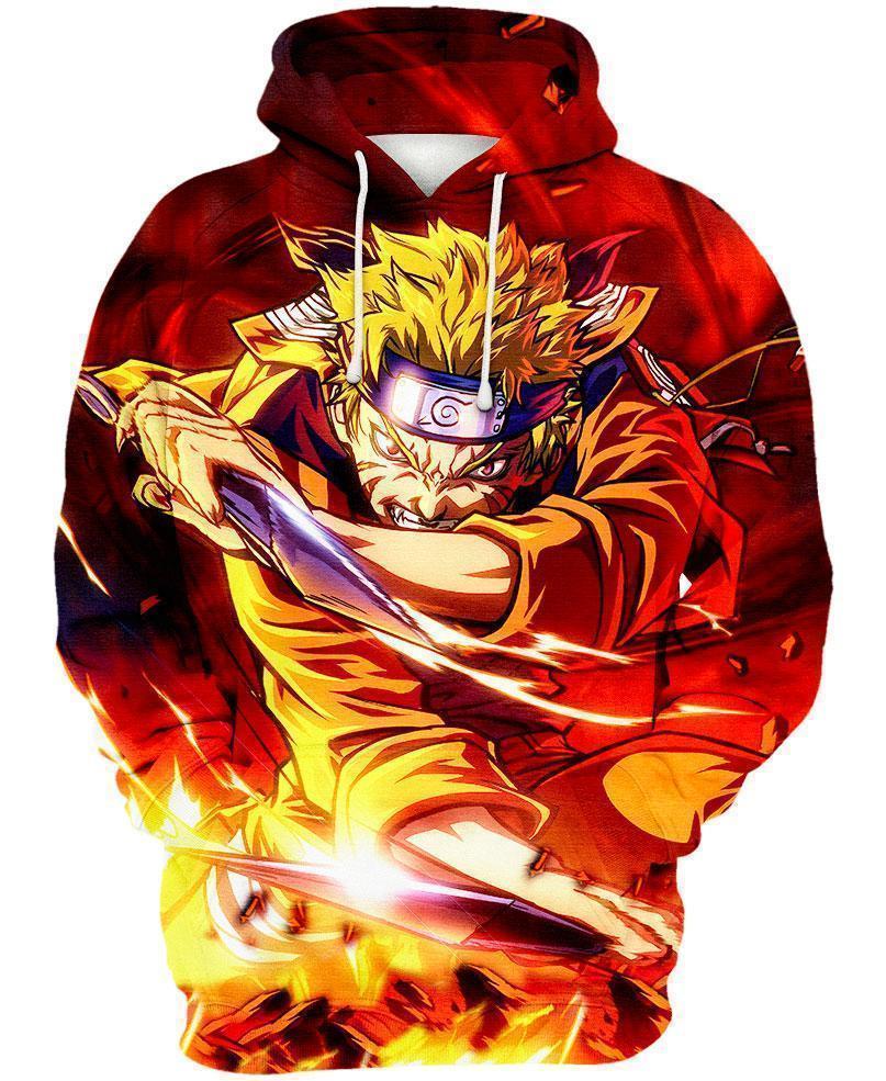 Naruto the seventh hokage all over print hoodie