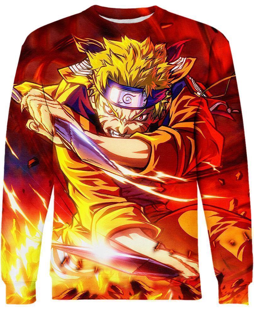 Naruto the seventh hokage all over print sweatshirt