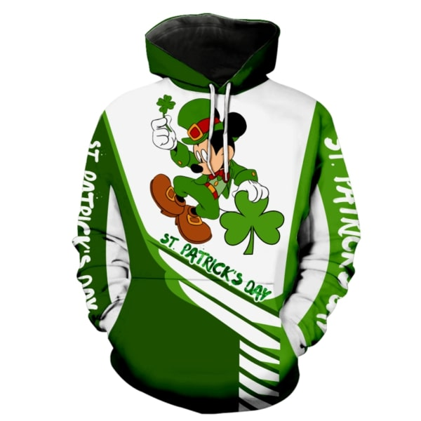 Saint patricks day mickey mouse full printing hoodie