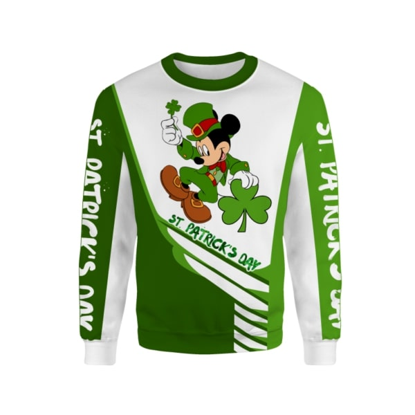 Saint patricks day mickey mouse full printing sweatshirt