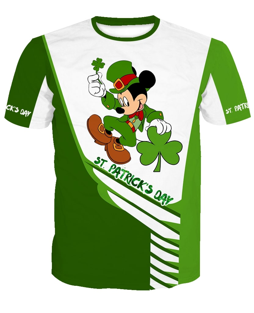 Saint patricks day mickey mouse full printing tshirt