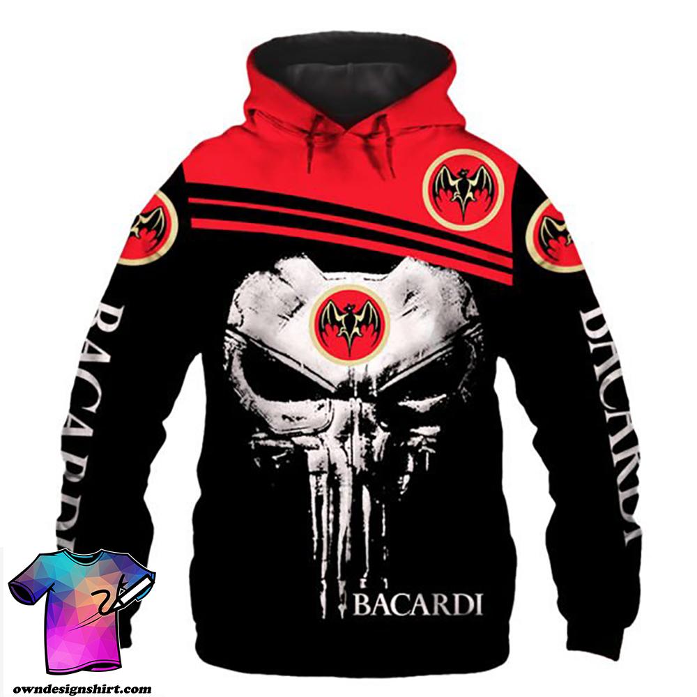 Skull bacardi full printing shirt