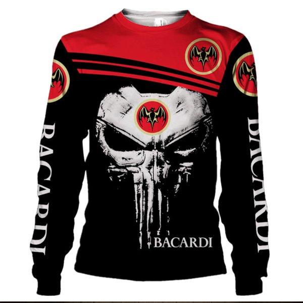 Skull bacardi full printing sweatshirt