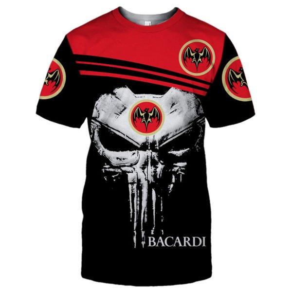 Skull bacardi full printing tshirt