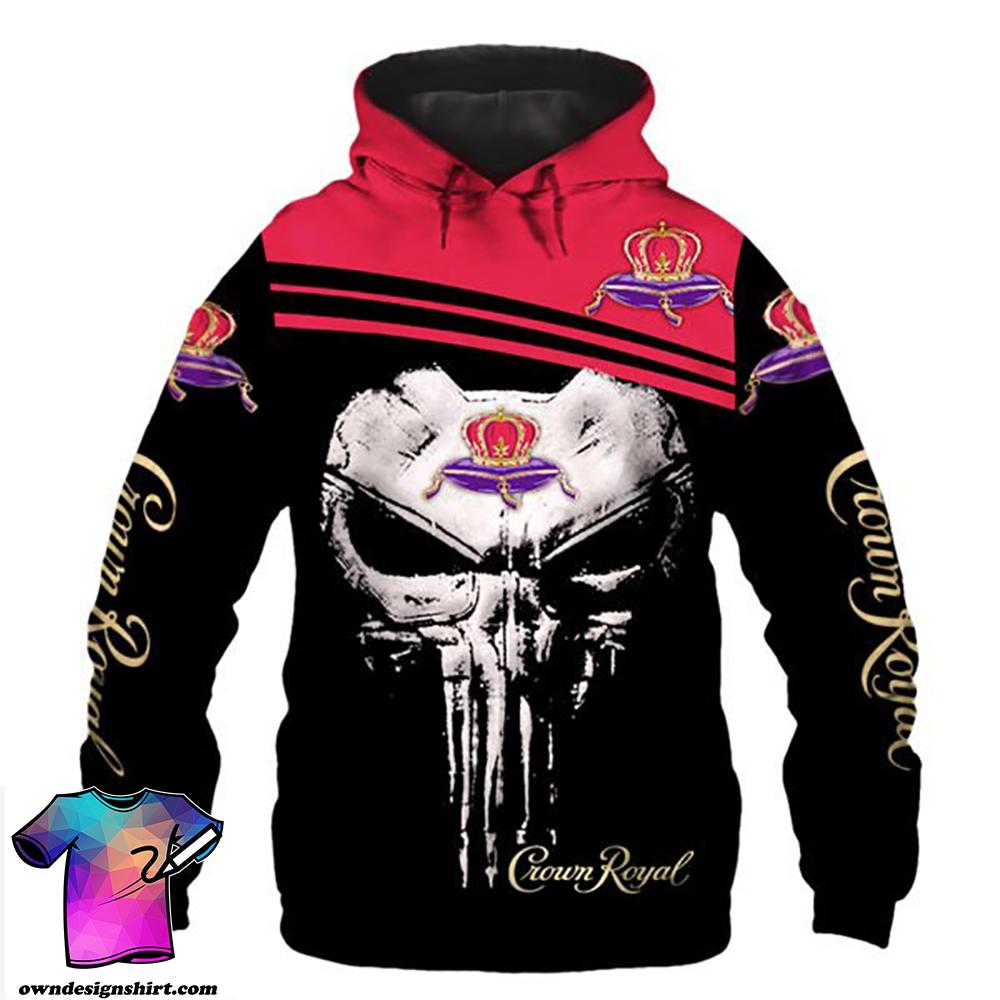 Skull crown royal full printing shirt