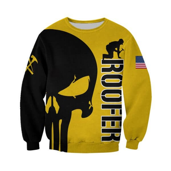 Skull roofer full printing sweatshirt