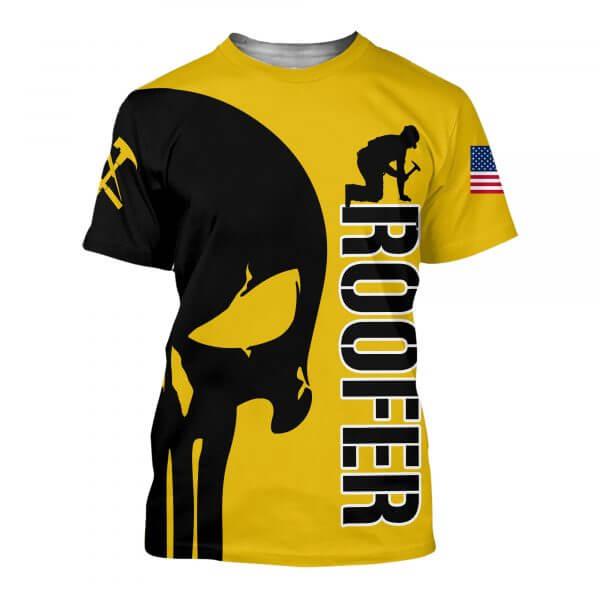Skull roofer full printing tshirt