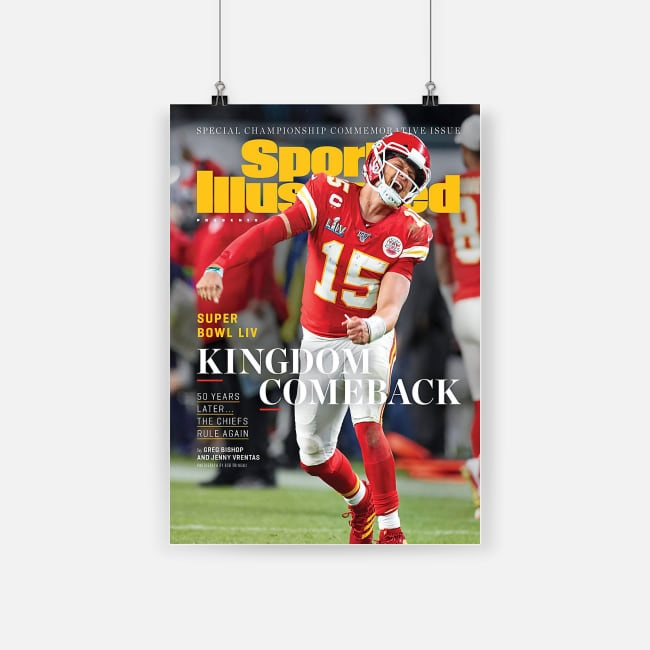 Sports illustrated superbowl champions kansas city chiefs poster 1