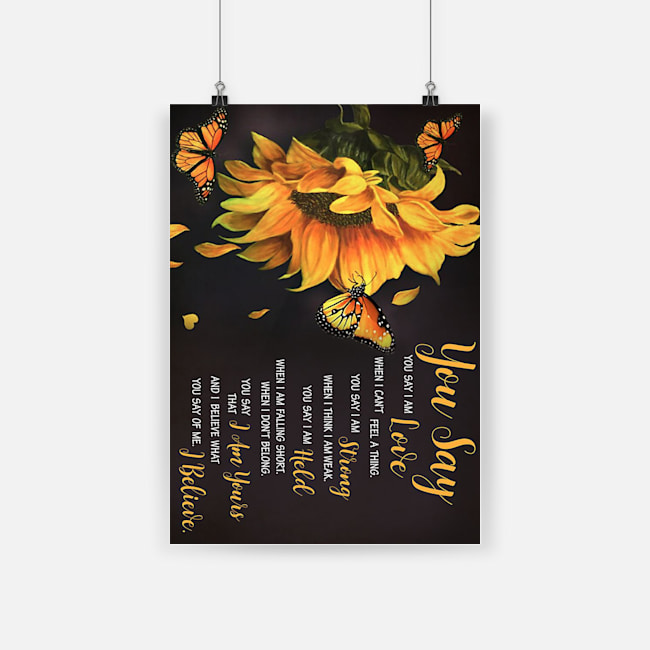 Sunflower lauren daigle you say poster 2