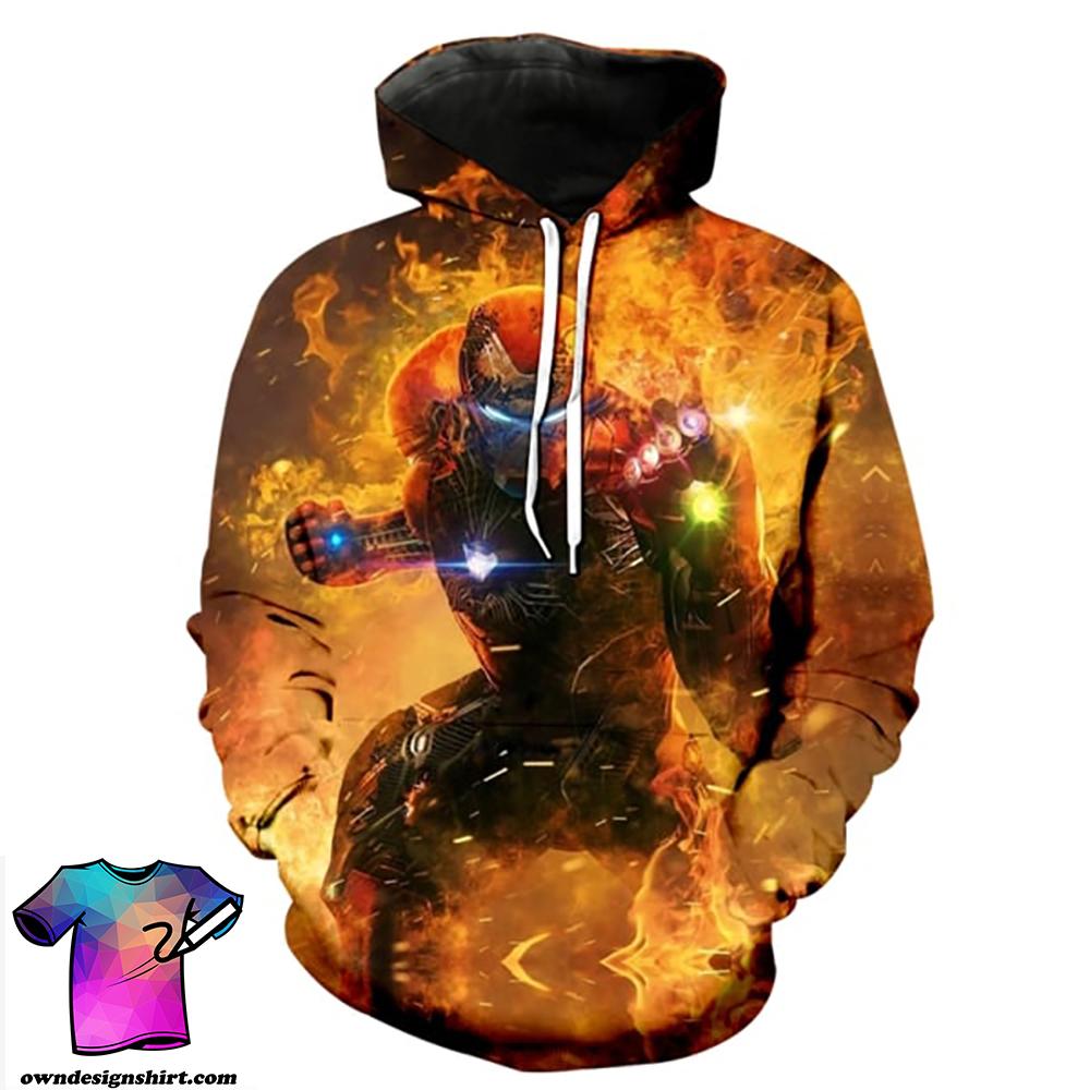 The avengers iron man full printing shirt