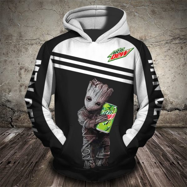 The grinch i will drink mountain dew here all over print hoodie 1