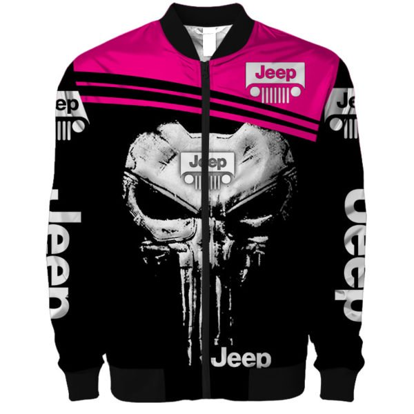The jeep punisher all over printed bomber