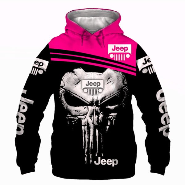 The jeep punisher all over printed hoodie