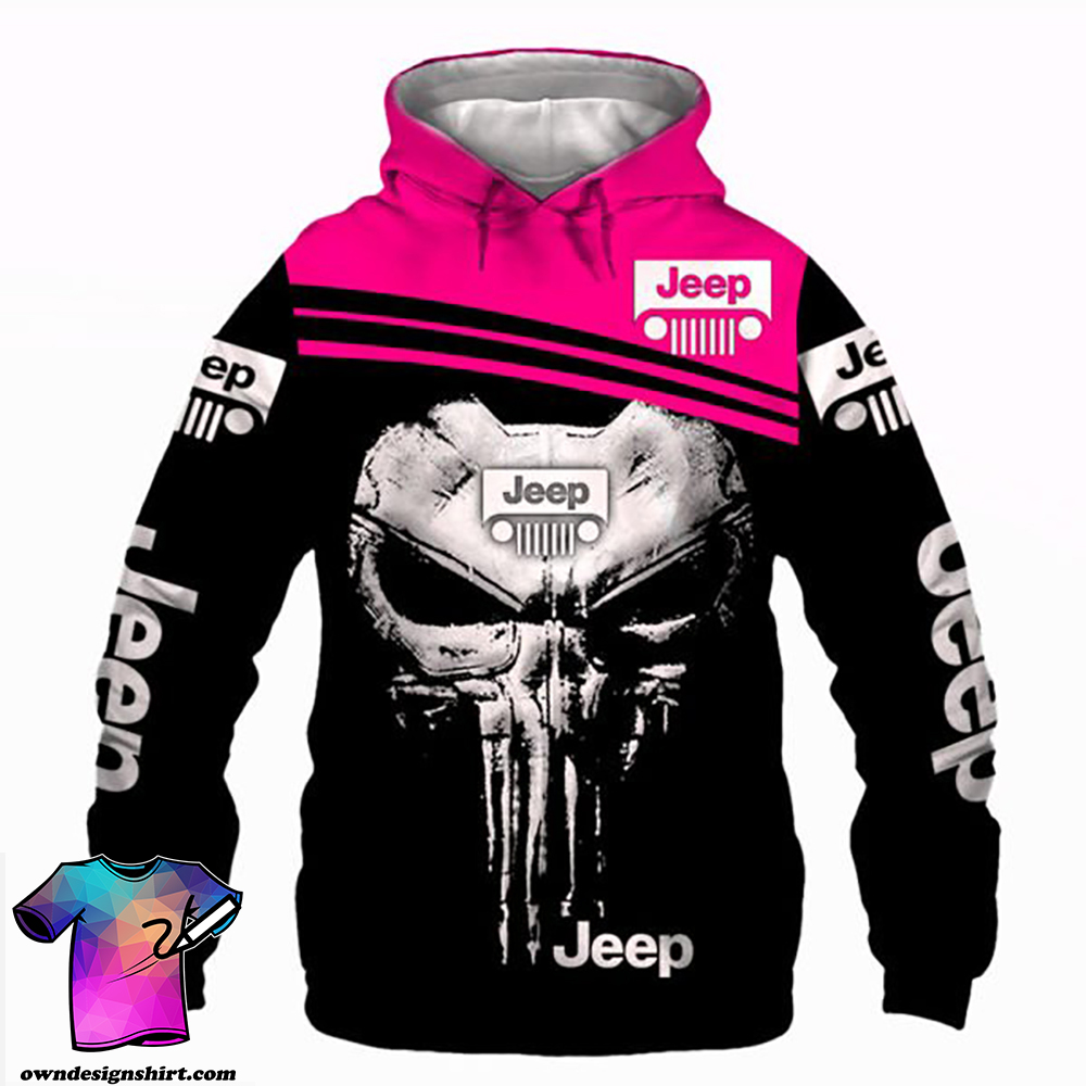 The jeep punisher all over printed shirt