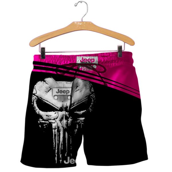 The jeep punisher all over printed shorts