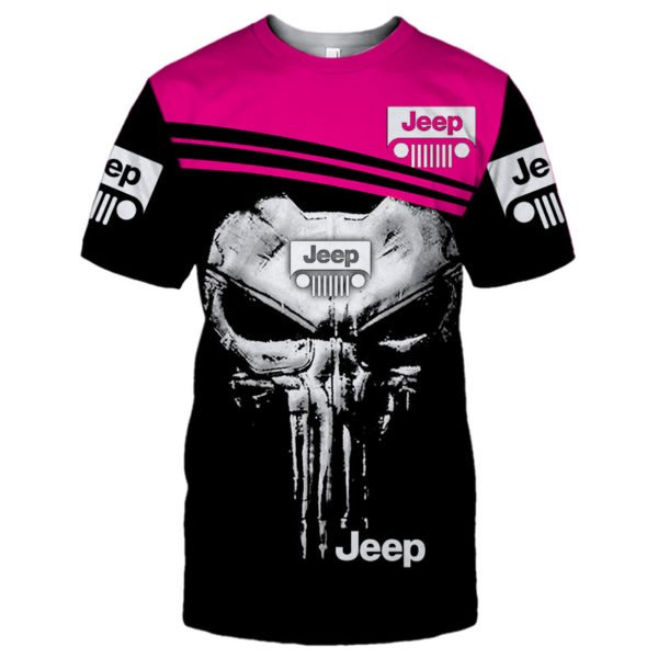 The jeep punisher all over printed tshirt
